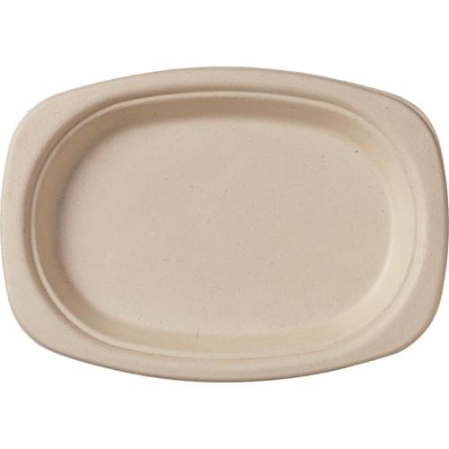 Teller oval Bagasse braun