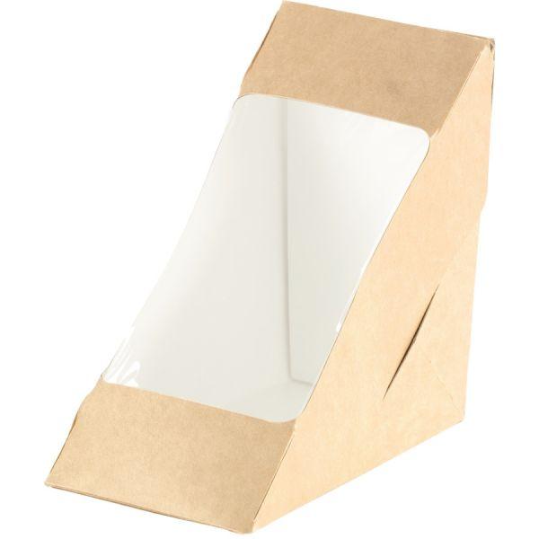 Box für 2 Sandwichecken mit PLA-Fenster ecoecho®